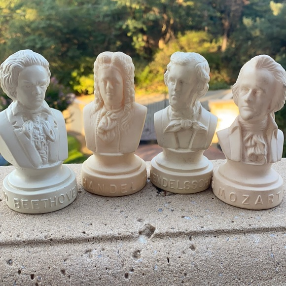 Vintage Variety Plastic Piano Composer Busts